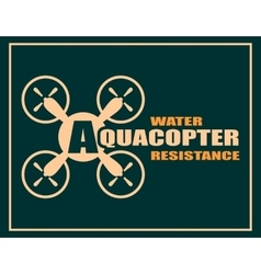 Quadrocopter icon Aquacopter water resistance vector