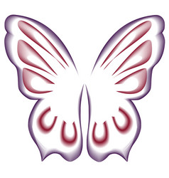 red-and-white wavy lines form the wings of a vector image