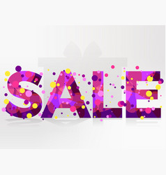 Sale banner isolated on white background bright vector