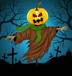 Scarecrow for Halloween vector