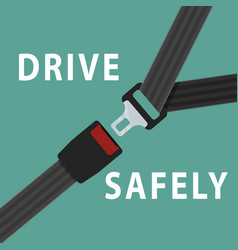 Seat belt on green background vector
