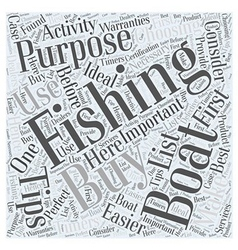 SF fishing boats buying tips Word Cloud Concept vector image