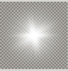 Soft white shining sun vector