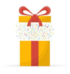Special prize reward gifts surprising present vector