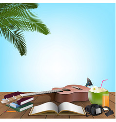 summer day holiday vacation vector image