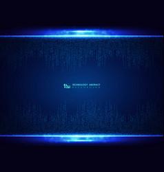 technology blue square pattern design decoration vector image