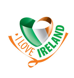 the national flag ireland and the vector image