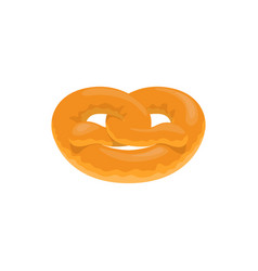 Twisted bun pretzel bavarian bread vector