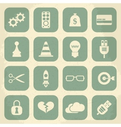 Universal Retro Icons For Web and Mobile vector