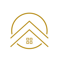 Upscale housing outline symbol logo design vector