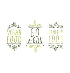 Vegan product labels vector