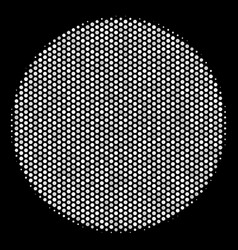 White pixel filled circle icon vector