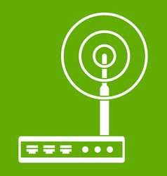 wifi router icon green vector image