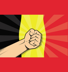 Belgium europe country fight protest symbol with vector