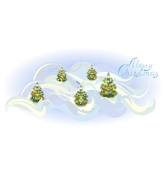 Card with Christmas trees EPS10 vector image