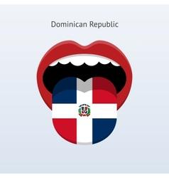 Dominican republic language abstract human tongue vector