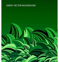 green leaves abstract vector image vector image