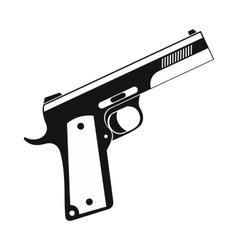 Gun icon black simple style vector image vector image