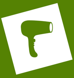 hair dryer sign white icon obtained as a vector image vector image