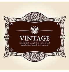 vintage frame vector background vector image