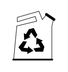 canister recyclable recycling related icon image vector image