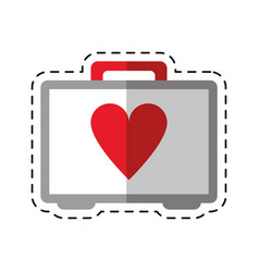 cartoon first aid kit emergency heart care vector image vector image