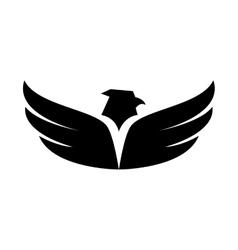 Eagle wing open symbol icon graphic vector