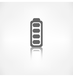Full battery icon Accumulator vector image