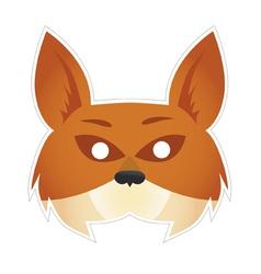 Mask fox vector image vector image