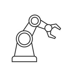 robotic arm outline icon vector image vector image
