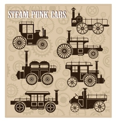 Steam-punk cars vector image vector image