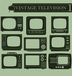 Vintage television I vector image