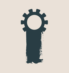 cog wheel and paintbrush isolated vector image