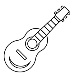 Guitar icon outline style vector image