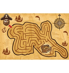Pirate maze vector image vector image