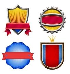 Set of colorful vintage labels vector image