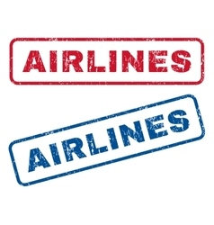 Airlines rubber stamps vector