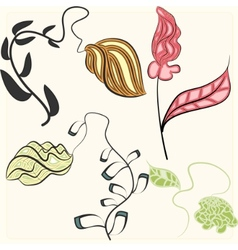 artistic flowers vector image
