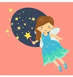 Cute Little Blue Fairy vector image