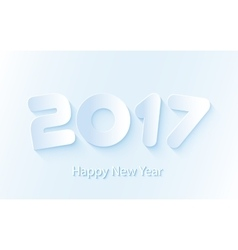 Happy New Year 2017 background with paper vector image