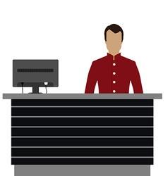 Hotel reception desk vector image