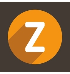 Letter Z Logo Flat Icon Style vector image