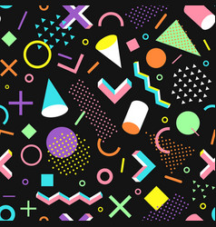 pattern in the 90s style vector image