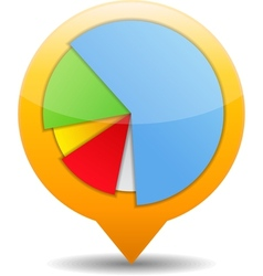 Pie Chart Icon vector image vector image