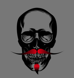 skull with red beard vector image