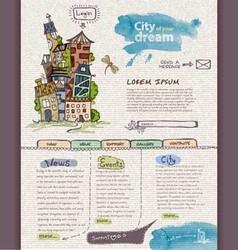 Website design template City vector image vector image
