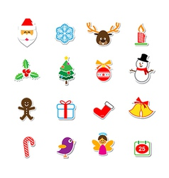 039 Christmas Sticker Set 001 vector