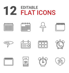 12 reminder icons vector