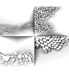 Abstract 3D Geometrical Mosaic Design vector image