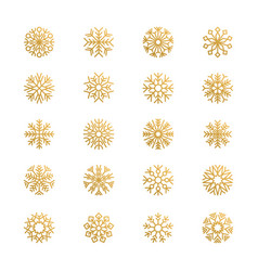 abstract snowflakes season graphic symbols snow vector image
